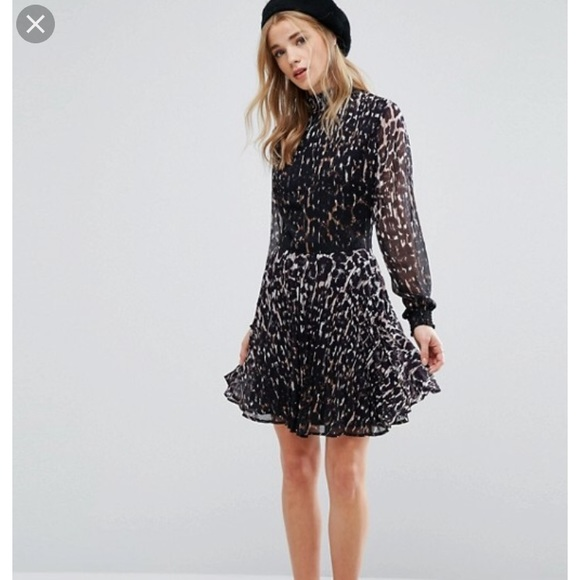 ASOS Dresses & Skirts - New look high neck leopard print dress